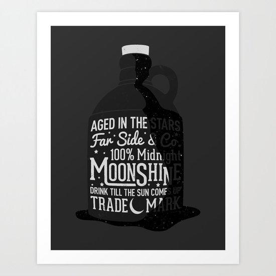 Midnight Moonshine Art Print