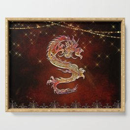 Decorative chinese dragon Serving Tray