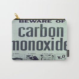Vintage poster - Carbon Monoxide Carry-All Pouch