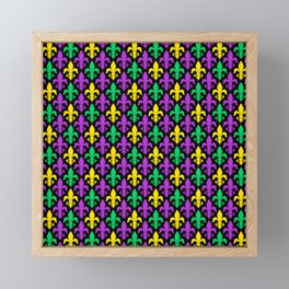 Mardi Gras Pattern | Funny Carnival Graphic Framed Mini Art Print