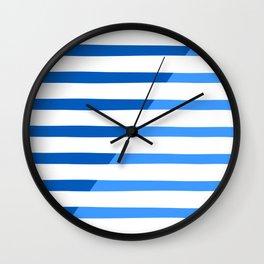 Beach Stripes Blue Wall Clock