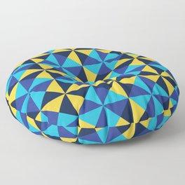 Blue Dream Pinwheels Floor Pillow