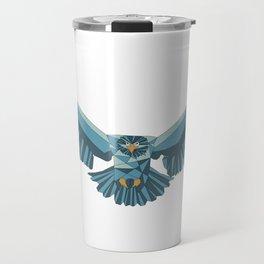 Geometric flying eagle Travel Mug