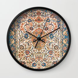 Isfahan Antique Central Persian Carpet Print Wall Clock