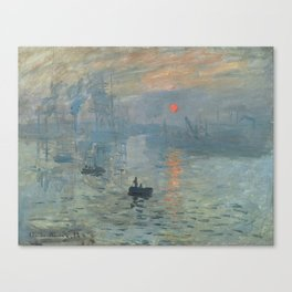 Claude Monet's Impression, Soleil Levant Canvas Print
