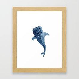 The Shark Star Framed Art Print