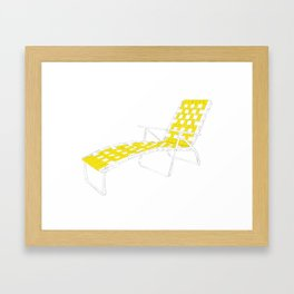 Deck Chair Framed Art Print