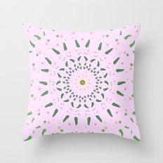 Forest Mandala Throw Pillow