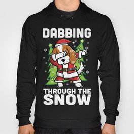 Cavalier King Charles Spaniel Dabbing Through The Snow Christmas Hoody