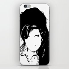 Amy back to just black iPhone & iPod Skin
