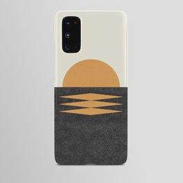 Sunset Geometric Midcentury style Android Case