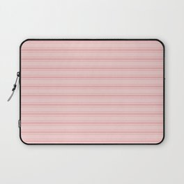 Wide Soft Blush Pink Mattress Ticking Stripes Laptop Sleeve