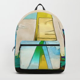 Night Sailing  -  Sailboats Backpack