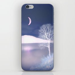 Moon night on the lake iPhone Skin