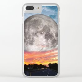 Supermoon Sunset Florida Clear iPhone Case