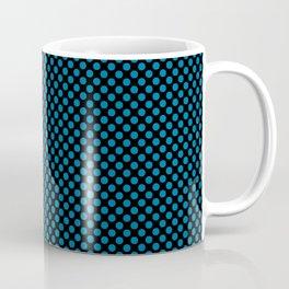 Black and Methyl Blue Polka Dots Coffee Mug