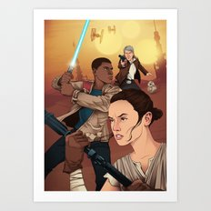 The Force Awakens: Light Side Art Print