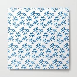 Seaweed Pattern Metal Print