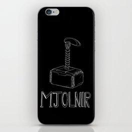 Thor's hammer: Mjolnir iPhone Skin
