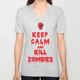 Keep Calm And Kill Zombies Unisex V-Neck