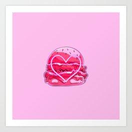 BURGER LOVE Art Print