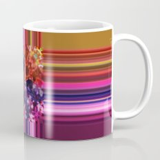 Purplish-Red and Gold Colorblock Abstract Mug