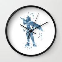 final fantasy Wall Clocks featuring Cloud Final Fantasy  by Carma Zoe