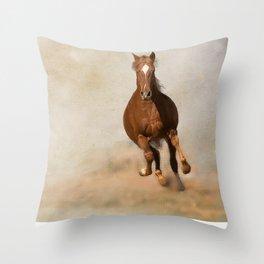 Galloping Horse Throw Pillow