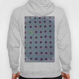 Green floats on yellow - dot graphic Hoody