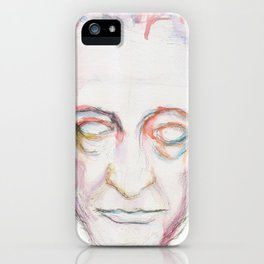 Goethe death mask iPhone Case