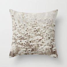 Bane of Fleas Sepia Throw Pillow