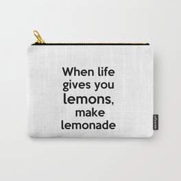 Lemonade lettering Carry-All Pouch
