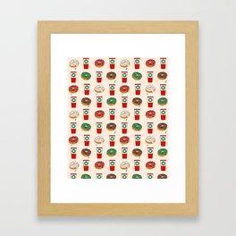 Coffee donuts foodie brunch breakfast desserts coffee lovers gifts Framed Art Print