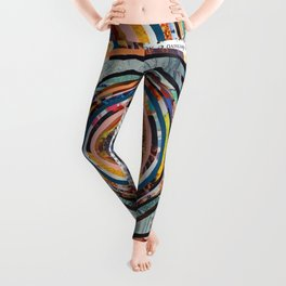 Rainbow Eyes Collage Leggings