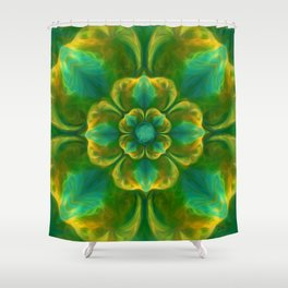 The Flower of Positivity  Shower Curtain