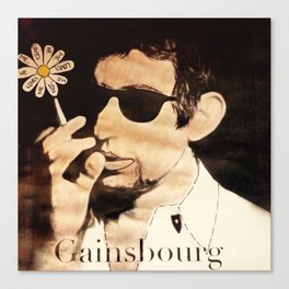 I Love you Gainsbourg... Canvas Print