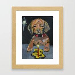 First Birthday Framed Art Print