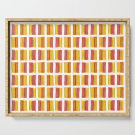 Yellow Red Colored Bubble Gum Pattern Serving Tray