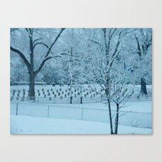 Confederate Snow Canvas Print