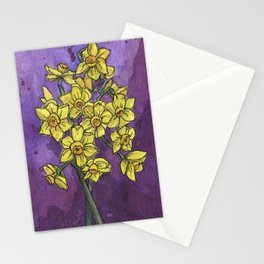 Jonquils - Watercolor and Ink artwork Stationery Cards