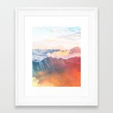 Mountain Glory #society6 #decor #buyart Framed Art Print