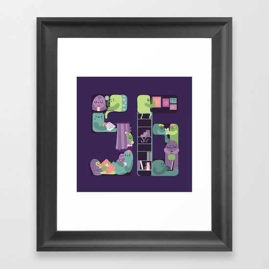 S6 tee Home is where S6 is Framed Art Print