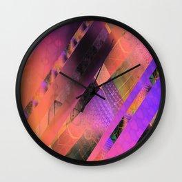 Free Floating Pattern Wall Clock