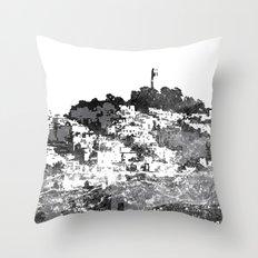 Telegraph Hill Print Black and Grey Throw Pillow