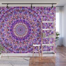The Purple Flower Kaleidoscope Wall Mural