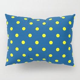 Maize & Blue Polka Dots Pillow Sham