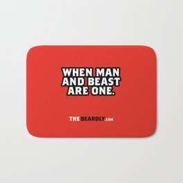 WHEN MAN AND BEST ARE ONE. Bath Mat