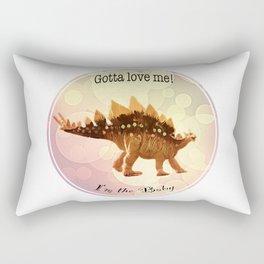 Dinosaur - I'm the Baby (Gotta Love Me) Rectangular Pillow