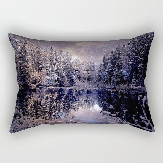 A Cold Winter's Night Neutral Rectangular Pillow