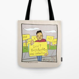 2014 Dont Buy Nothing Tote Bag
